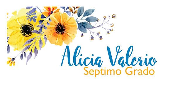 Tarjeta de Nombre - Flores Amarillas