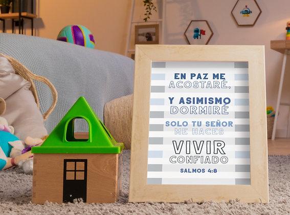 Diseño para Enmarcar - Niño Azul