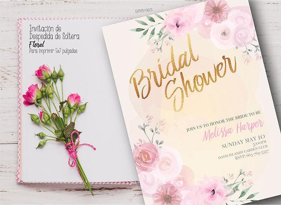 Invitación Despedida de Soltera Floral