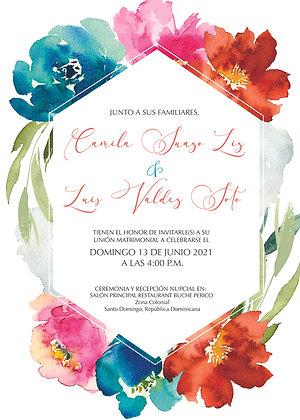 Invitación de Boda - Summer Flores