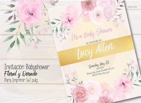 Invitación Baby Shower Floral