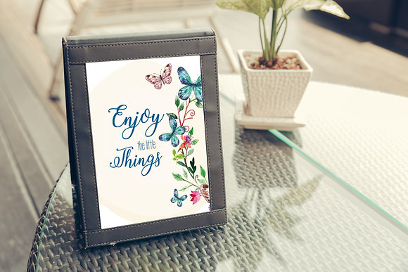 Diseño para Enmarcar - Enjoy the Little Things