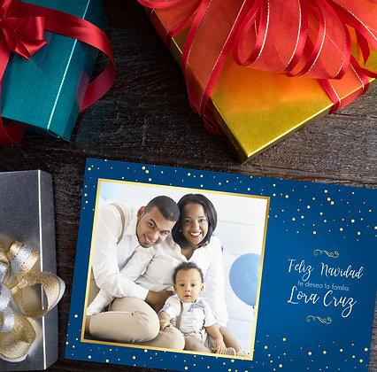 Postal de Navidad - Azul