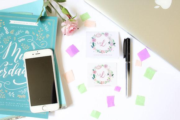 Set de 3 Tarjetas - Floral y Mariposas