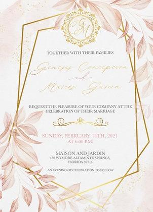 Invitación de Boda - Delicate Blush