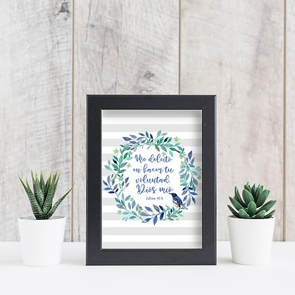 Diseño para Enmarcar - Flores Azules