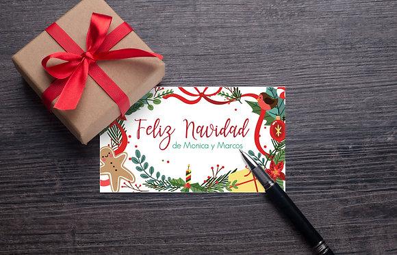 Tarjeta Navidad Colorida