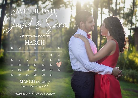 Save the Date - Calendario