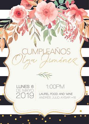 Invitación Evento Flores