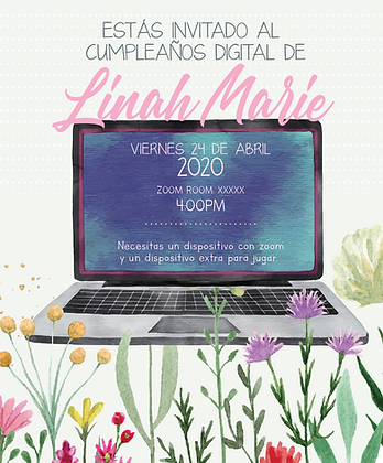 Invitación Cumpleaños Virtual