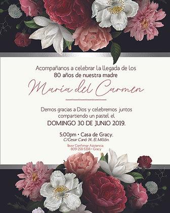 Invitación Evento Rosas Rojas