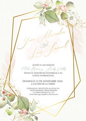 Invitación de Boda - Greenery Delicate Floral