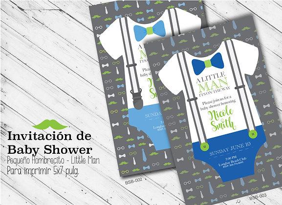 Invitación Baby Shower Little Man