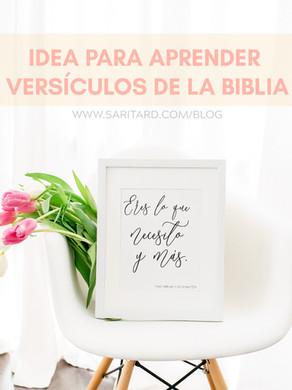 Idea para aprender versículos de la Biblia