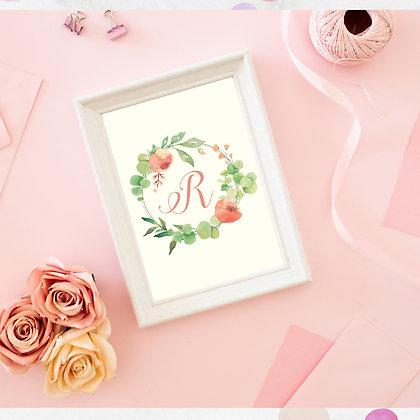 Diseño para Enmarcar - Monograma Floral
