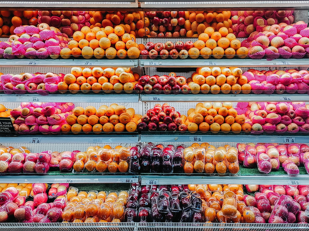 Fruit stand in a grocery store