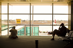 Two Men in the Airport