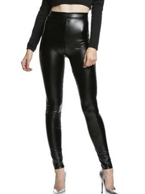 """Nessa"" high waist leather look leggings"