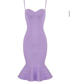 """Jasmine"" flare skirt bustier bandage bodycon dress"
