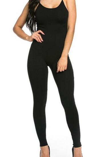 """Nyla"" black body hugging jumpsuit"