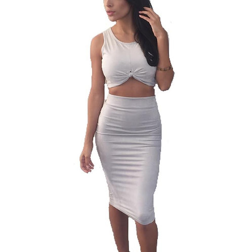 """Paige"" two piece suede set"