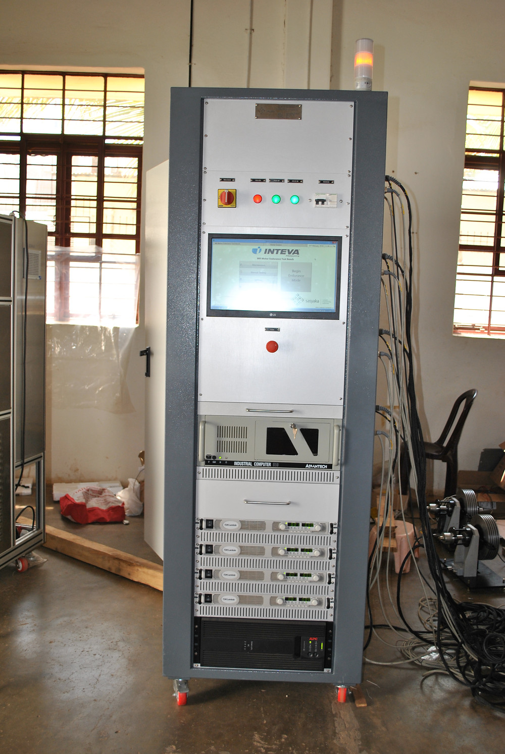 Control Cabinet for Motor testing