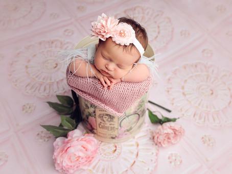 Glamorous and Girly Newborn Session