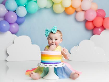 Ultimate Cake Smash - Pearls, Ice Cream, and Rainbows