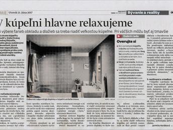Publikovali sme v SME-čku o kúpeľniach