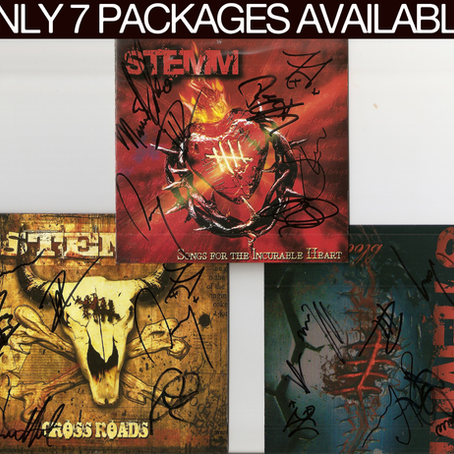 SIGNED CD'S/SHIRT BUNDLE NOW ON THE STORE!