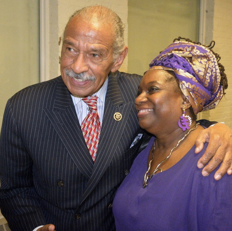 with Congessman John Conyers