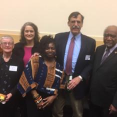 Congressman Danny Davis, Gene Guerrero, Jenny Collier, Pauline Sullivan