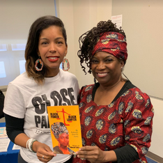 Rukia Lumumba, daughter of Brother Chokwe, can't wait to read my book!
