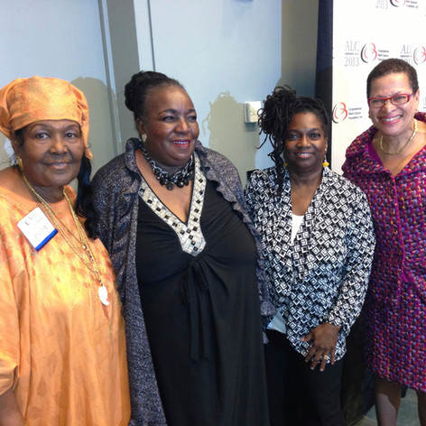 with Sister Claudette Muhammad, Queen JoAnn Watson & Dr. Julianne Malveaux
