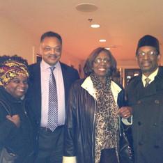 with Rev. Jesse Jackson, Marcia Keizs, Dr. Ron Daniels