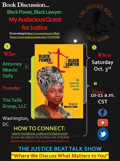 Nkechi Book Tour Justice Beat Talk Show