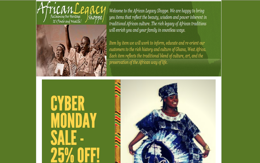 African Legacy Shoppe FB page