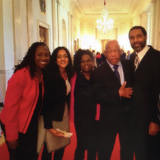 with Sherrilyn Ifill, Vanita Gupta, Congressman John Lewis, Dakarai Kearney at WH