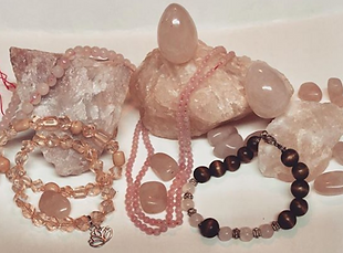 Lisa Soul Awaken Rose Quartz Collection.