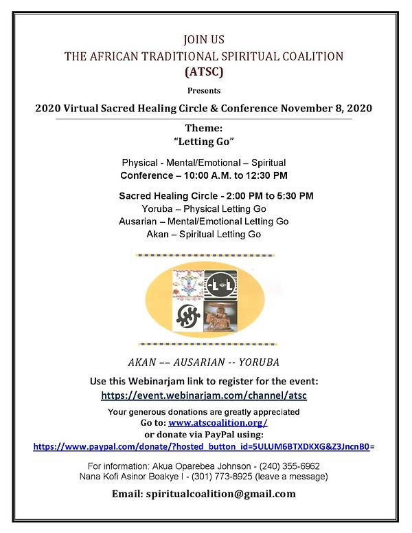 2020 Sacred Healing Circle and Conference