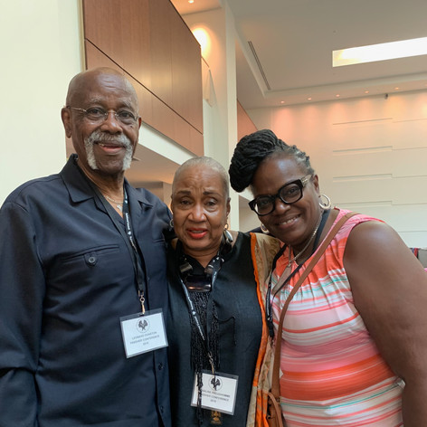 with Baba Lenny Dunston, Queen Roz and G