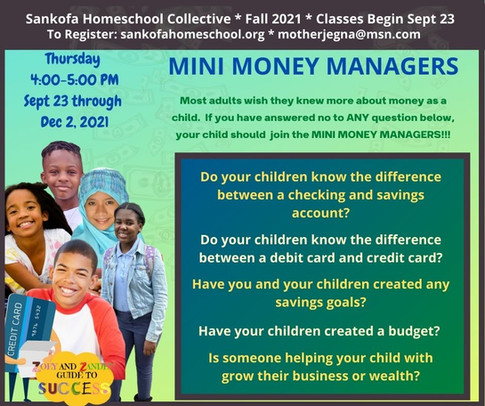 Mini Money Manager -Fall 2021