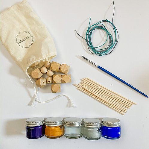 Geometric Wooden Bead Painting Kit