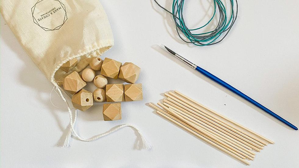 Geometric Wooden Bead Painting Kit