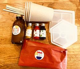 Marbled Jesmonite Coaster Craft Kit