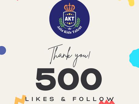 Facebook 500 Likes & Follow!