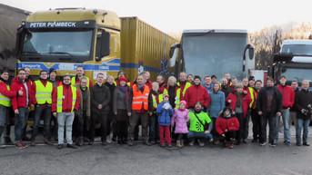 Stärkung für den Weihnachtspäckchenkonvoi 2015 nach Rumänien, Ukraine und Moldawien