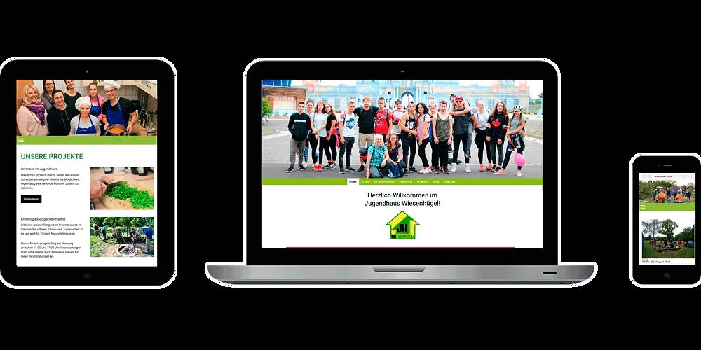 Neue Website des Jugendhügel Wiesenhügel Erfurt