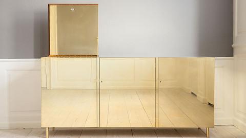 Studioilse Brass Cabinet