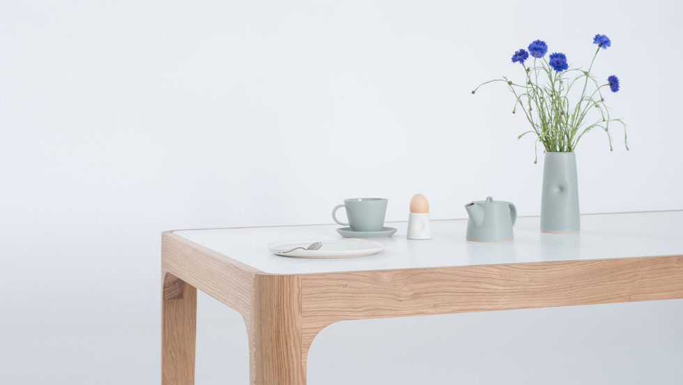 JT Curved Dining Table   Oak